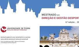 Abertas candidaturas a Mestrado em gestão desportiva na Universidade da Évora