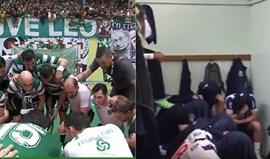 Andebol: Este festejo do Sporting foi resposta a uma provocação do FC Porto