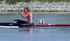 Teresa Portela na final A de K1 200 metros da Taça do Mundo