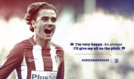 Oficial: Griezmann renova até 2022 pelo Atlético Madrid