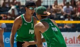Francisco Pombeiro e José Jardim no Europeu de sub-22 de voleibol de praia