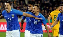 Brasil goleia Austrália por 4-0 com bis do ex-benfiquista Diego Souza