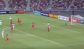 Os golos da vitória da Argentina sobre Singapura