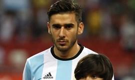 Salvio muito feliz por voltar a jogar pela Argentina