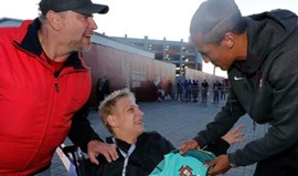 Ronaldo, Pepe e Bruno Alves deram uma enorme alegria a este adepto russo