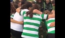 Foi desta forma que a equipa feminina de juniores do Sporting celebrou nova conquista
