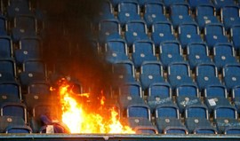 Ultras do Hertha causam incêndio