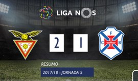 Resumo do Aves-Belenenses (2-1)