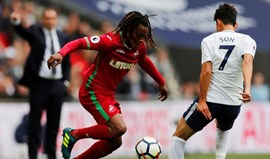 Renato Sanches  substituído no empate do Swansea com o Tottenham