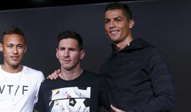 Cristiano Ronaldo disputa The Best com... Messi e Neymar