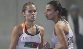 Filipa Mendonça e Catarina Nogueira na final de duplas do Europeu