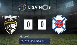 O resumo do Portimonense-Belenenses (0-0)