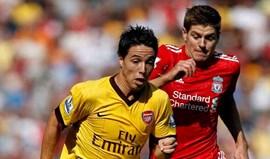 Samir Nasri falha jogo com Barcelona