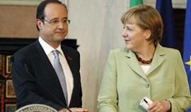 Merkel e Hollande acertam agulhas