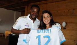 Marion Bartoli em treinos com o Marselha