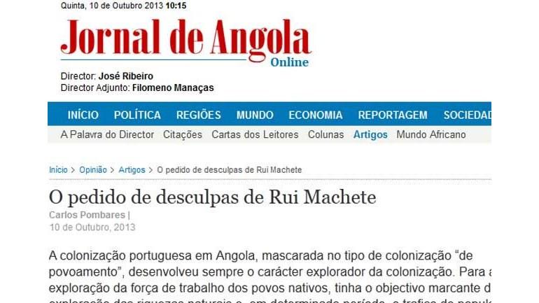 Jornal de Angola arrasa Portugal