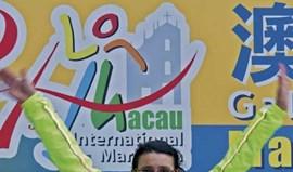 Miguel Ribeiro e Elisabete Lopes no pódio em Macau