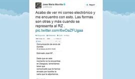 Saragoça despede veterano por... e-mail