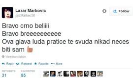 Lazar Markovic louco com vitória do Partizan