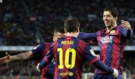 Luis Suárez bisa na goleada do Barcelona