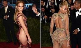 Beyoncé e Jennifer Lopez mostram quase tudo na gala do MET