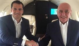 Nélio Lucas e Galliani em avião privado rumo ao Porto