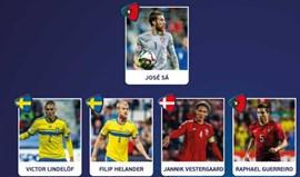 Cinco portugueses no onze ideal