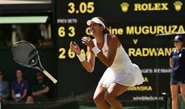 Garbine Muguruza na final de Wimbledon