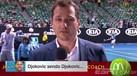 Djokovic treinou para a final a fazer tiro ao... jornalista