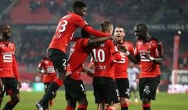 Rennes supera Ajaccio e sobe para terceiro lugar