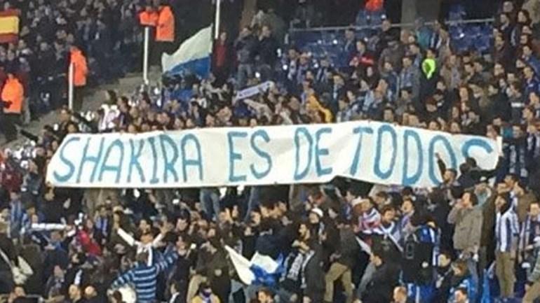 Adeptos do Espanyol dizem que Shakira é de todos