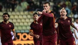 Roma derrota Carpi (3-1) e sobe ao terceiro lugar