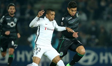 Teo jogou em Guimarães... com as insígnias da Liga Europa