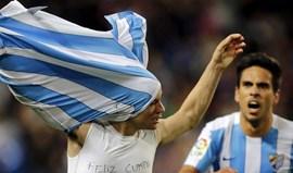 Málaga vence e sobe a oitavo