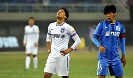 China: Fredy Montero estreia-se com derrota
