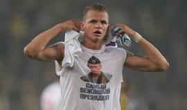 Imagem de Putin custa 5 mil euros a jogador do Lokomotiv Moscovo