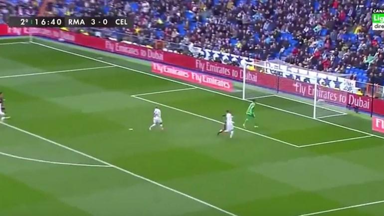 Aspas fez uma obra de arte no Bernabéu