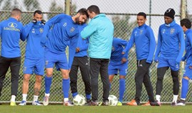 Filipe Silva assistiu ao treino