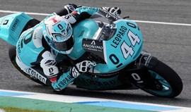 Moto2: Oliveira cai após grande corrida em Jerez