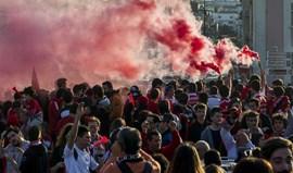 Festa do 35.º título do Benfica em Leiria com Jesus no pensamento