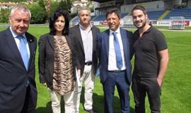 UEFA esteve no Municipal de Arouca esta tarde