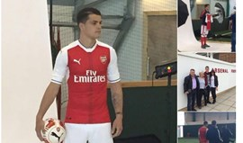 Xhaka já veste as cores do Arsenal