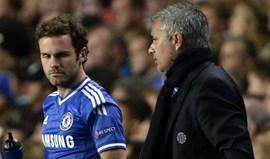 Mourinho já mexe com nervos de Mata e ainda não entrou no United