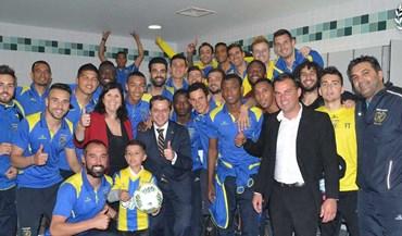 Mãe de Cristiano Ronaldo no balneário do União da Madeira