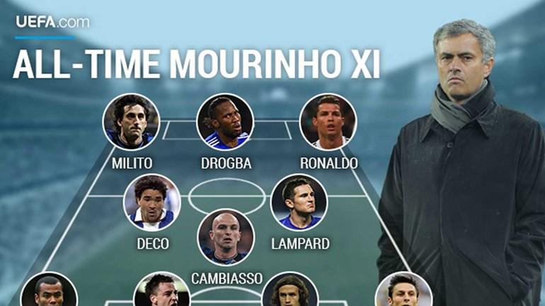 Um onze com jogadores chave na carreira de Mourinho