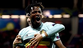 Batshuayi na mira do At. Madrid