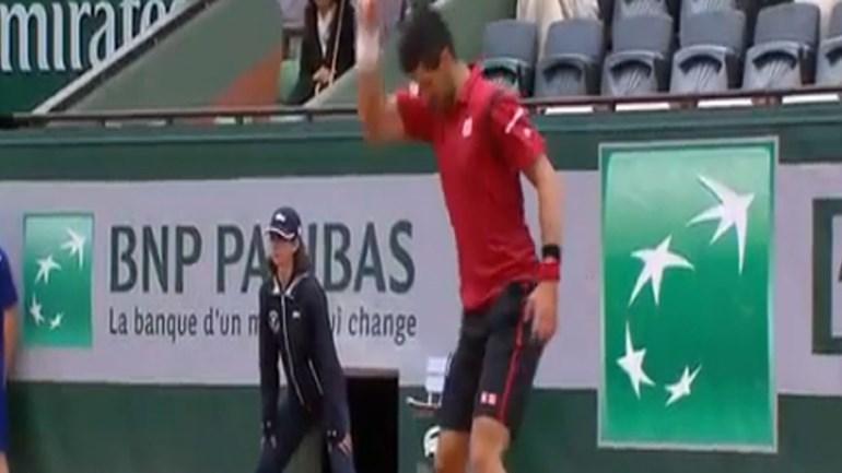 Este gesto quase acabou com o sonho de Djokovic em Roland Garros