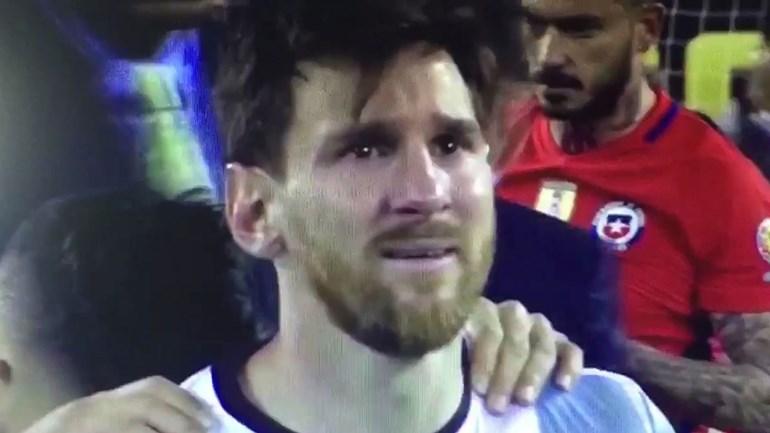 As lágrimas de Messi que tudo dizem...