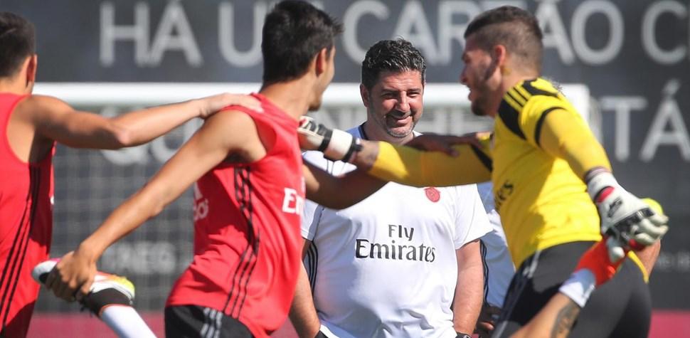 Assim foi o treino do Benfica