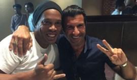 Luís Figo jantou com Ronaldinho Gaúcho na Índia